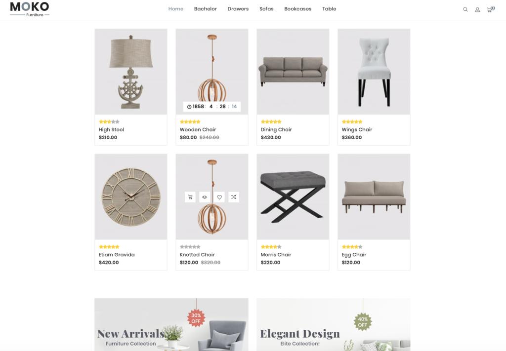 webshop producten voorbeeld